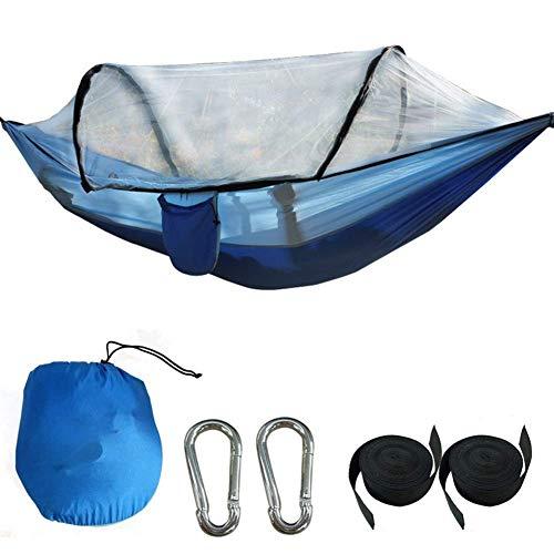 Hamacs Jardin extérieur, Hamac Swing Outdoor Jungle Explorer Moustiquaire Double Nylon Parachute Tissu pour Courtyard Camping Voyage