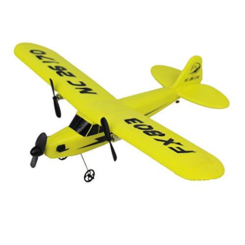 Amosfun Ferngesteuertes Flugzeug Rc Flugzeug Bereit zu Fliegen Schaum Flugzeug Outdoor Sport Spielzeug für Kinder Geburtstagsgeschenke ohne Batterie Gelb