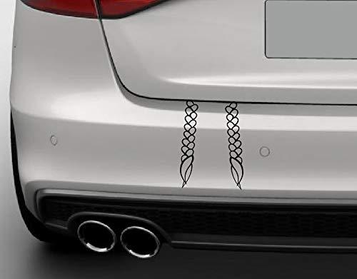 Dinger-Design Aufkleber ZÖPFE VON Greta IM Kofferraum Tuning Umweltzone Sticker Autoaufkleber (Weiß)