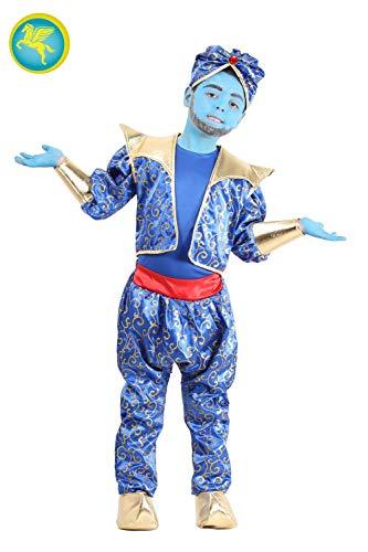 Pegasus Srl Vestito Costume Maschera di Carnevale Ragazzo - Genio della Lampada - Taglia 8/9 Anni - 115 cm