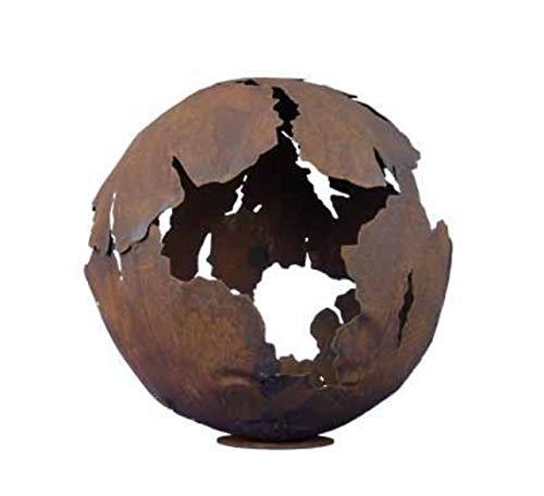 Riss Kugel 50cm Ø Edelrost Rost Gartendeko Garten Feuerschale Metall Feuerkugel Pflanzschale Risskugel