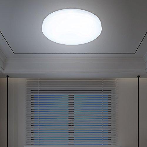 VINGO® 12W LED Deckenleuchte Deckenlampen Weiß Wohnzimmerlampe Badleuchte Deckenbeleuchtung Wohnzimmer Smart Beleuchtung rund Wand-Deckenleuchte Markantes Design Lampe