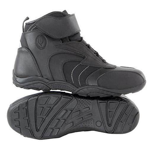 Vulcan V310 Men's 'Troop Sport' Black Leather Motorcycle Boots - 9