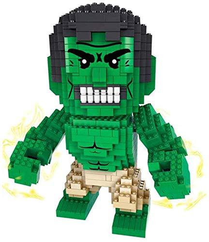 QSSQ Mini Building Blocks Super Hero 3D-Modell, 3D-Puzzle Lernspielzeug Für Jungen,Hulk