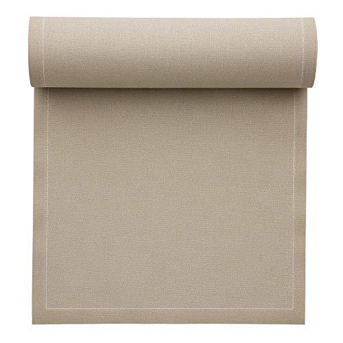 Serviette de table en coton 32x32cm - Rouleau de 12 serviettes - Sable