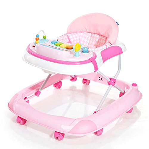 Kindertrolley Lauflernhilfe Anti-Roll-Multifunktions-Kinder-Baby-Trolley 6/7-18 Monate Baby Lernen, zu gehen GAOLILI (Farbe : Pink)