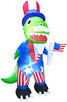 Amenon 4 Ft Uncle Sam Dinosaur Inflatable