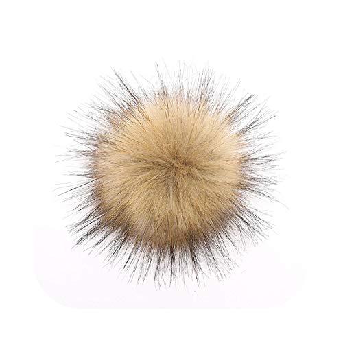 happy Bommel, 12 cm, Kunstpelz, Bommel, Hut, Ball, Basteln, mehrfarbig, Kunstpelz, Pompom-Light Brown