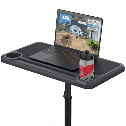 KOM Cycling Media Display - Indoor Cycling Desk for a Bicycle Trainer - Bike Desk Creates a Rad Indoor Cycling Pain Cave - The Bicycle Trainer Desk is Perfect for displaying Zwift, TR, and Wahoo SUF!