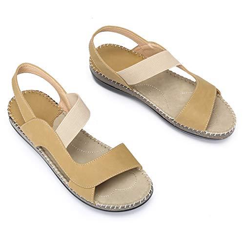 gracosy Sandalias Plataforma Verano Mujer Casual 2019 Open Toe Caminar Sandalias Antideslizantes al Aire Libre Zapatillas de Pplaya Tobillo Correa 37-41