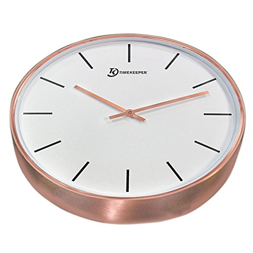 15' Genuine Brushed Copper Wall Clock with Copper Hands and...