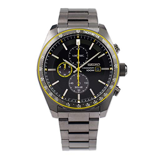 Seiko Solar Reloj para Hombre Analógico de Solar con Brazalete de Acero Inoxidable SSC723P1