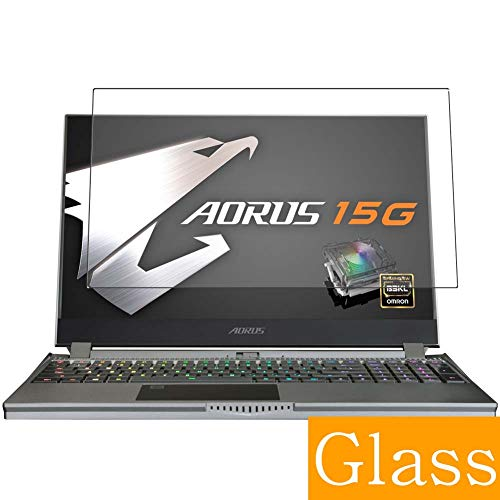 Synvy Tempered Glass Screen Protector Compatible with GIGABYTE AORUS 15G XB-8JP2130MP 15.6' Visible Area 9H Protective Screen Film Protectors (Not Full Coverage)