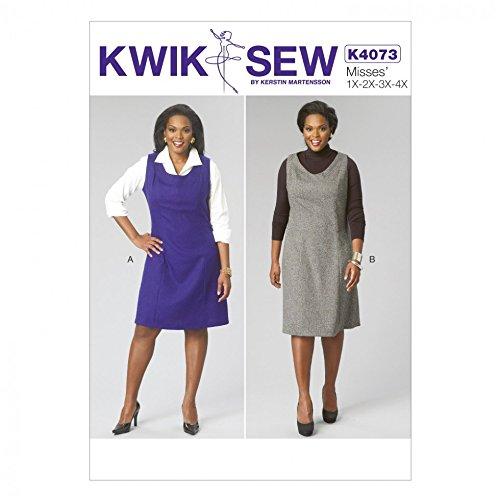 Kwik naaien dames naaien patroon 4073 Pinafore jurken