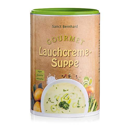 Sanct Bernhard Gourmet Lauchcreme Suppe, herzhafter, rein pflanzlicher Genuss, vegan, laktosefrei, glutenfrei, Inhalt 500g