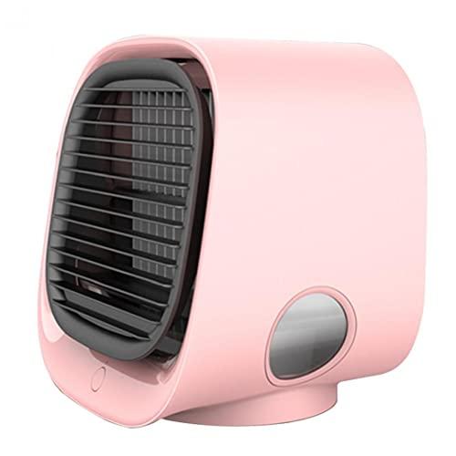 Sanfiyya Mini condizionatore d'Aria del USB Air Cooler Portatile Registrabile del Ventilatore di Raffreddamento evaporativi purificatore per la casa Outdoor Rosa