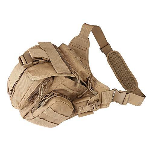 Táctica Messenger Bag EDC Sling Pack Pesca Aparejo Un Hombro Militar