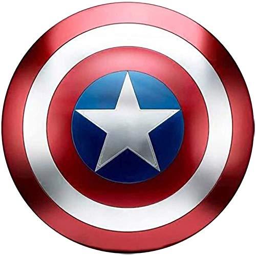 BCCDP Marvel Amerikanischer Kapitän Eisen Schild 1 Bis 1 Superhelden kann Cosplay Requisiten Captain America Schild Full Metall Kinderspielzeug,kreative Bar Wanddekoration Halten 47.5CM