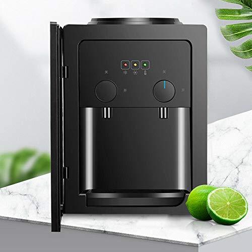 Fetcoi Dispensador de agua eléctrico de 550 W, botella de agua fría/caliente, para oficina, color negro, 270 x 235 x 370 mm