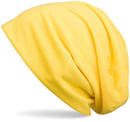 styleBREAKER Klassische Slouch Beanie Mütze, leicht, Unisex 04024018, Farbe:Gelb