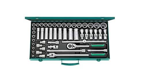 Stahlwille 96030136 Steckschlüsselgarnitur 50-teilig, im stabilen Stahlblechkasten