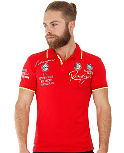Redbridge Herren Poloshirt RB-2040 Slim-Fit, 48 (M), Rot (Red)