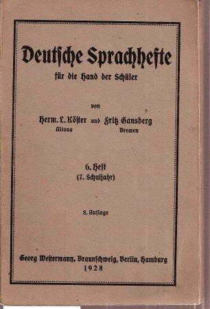 Deutsche Sprachhefte für die Hand der Schüler 6.He