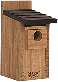 Nature's Way Bird Products BWH3 Bamboo Bluebird Box House