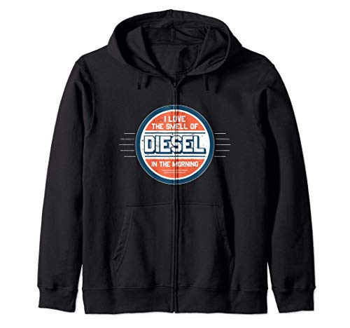 I Love the Smell of Diesel in the Morning Gift Felpa con Cappuccio