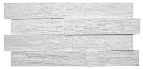 DECOSA Creativpaneel Wood (Holz-Optik), weiß, 1 Packstück à 5 Steine 20 x 50 cm (= 0,5 qm)