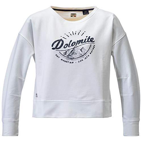Dolomite Sudadera Settantasei W1 bluza damska, biała, L