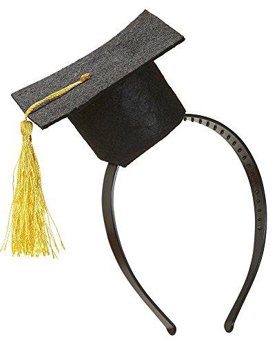 Widmann Mini Hut Abschlussfeier auf Haarreif, schwarz, 5692