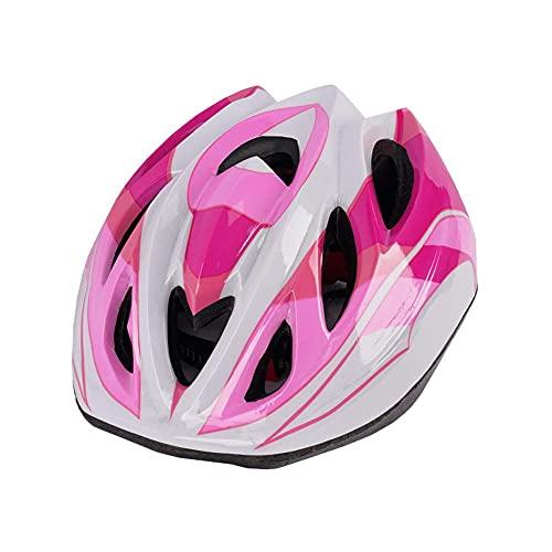 Pkfinrd Casco de Bicicleta para niños, Casco de Ciclo de Seguridad Ultra Ligero Ajustable Adecuado para Ciclismo niño/Juventud (se Ajusta a los tamaños de Cabeza 48-52 cm) (Color : Red)