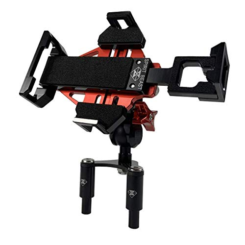 WINDFRD Ducati Motorcycle Phone Mount Holder for Panigale V4 V4S 959 939(Super Sport/S) 848 899 1199 1299 Fixing Device Adjustable Size (Red)