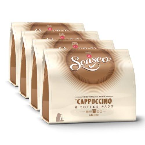 Senseo Cappuccino, New Design, New Recipe, Pack of 4, 4 x 8 Coffee Pods