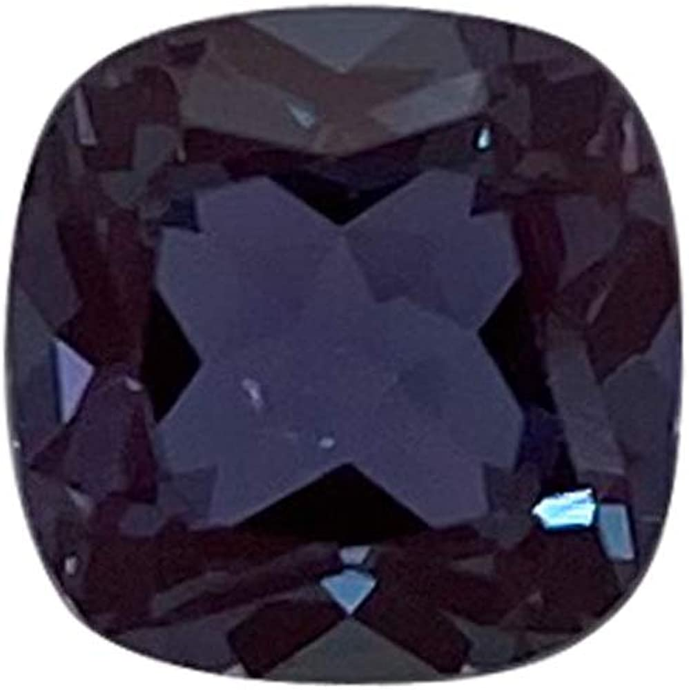 Mysticdrop Lab Created Alexandrite Cushion Shape fro Quality Courier shipping Superior free AAA