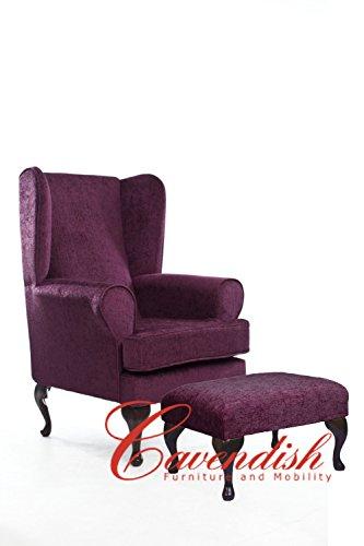 Una mayor y un gran Cavendish asiento profundo vendaje de silla de madera de ciruelo 53,34 cm o de la 48,26 cm de asiento de regulación de la altura de