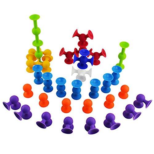 Best Bargain ERDFCV Pop Suckers Blocks Toy - Soft Silicone Building Blocks Kids Insert and Assemble ...