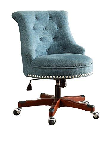 Office Chair in Aqua and Dark Walnut