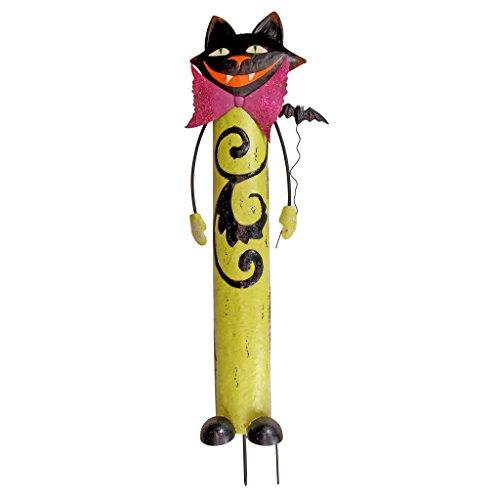 Design Toscano Halloween Halloween Blackie de kat van het spel uit, metalen elementen, meerkleurig,
