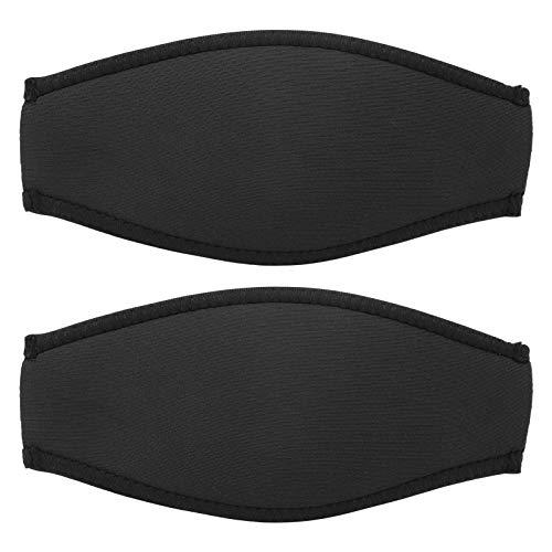 Caiqinlen 2 Piezas de Neopreno Anti Sudor Buceo Slap Strap, Cubierta de Espejo de Buceo, para Piscina de Buceo de mar(Black)