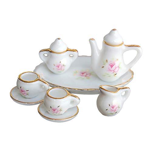 Keshida 1:12 Exquisito juego de vajilla de cerámica para café, vino, tetera,...