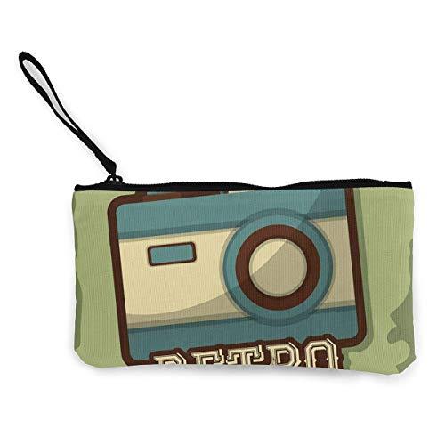 Yuanmeiju Retro Kamera Icon Leinwand Geldbörse Exquisite Geldbörsen Kleine Leinwand Geldbörse Wird verwendet, um Münzwechsel, ID und andere zu halten