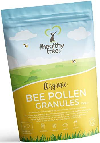 Granules de Pollen d'Abeille Espagnol Bio par TheHealthyTree Company - Riche en Vitamines B1, B2, B9, C, E et Cuivre - Grains de Pollen d'Abeille Crue Pur de la Meilleure Qualité (250 g)