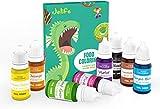 Colorante Alimentario 8*11ml,Set de Colorante Liquid Alta Concentración para Colorear los Pasteles Galletas Macaron Fondant