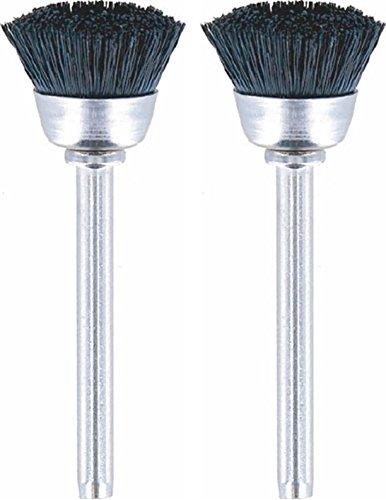 Dremel 404-02 Nylon Bristle Brushes (2 Pack), 1/2' Diameter