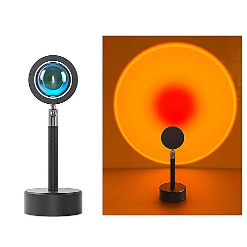 ADFHZB Lámpara al Atardecer, rotación de 180 Grados. DIRIGIÓ Lámpara de Mesa, proyector de luz luz de Noche luz de Noche, USB Luz romántica con Motor para la decoración del Dormitorio de Fiesta