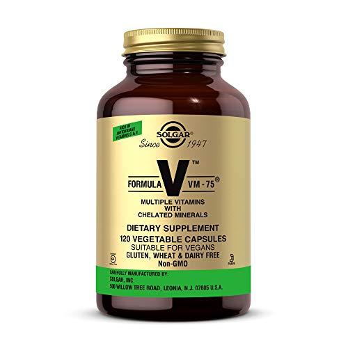 Solgar Formula VM-75, 120 Vegetable Capsules - Vitamin A, B6, B12, C, D, E - Biotin, Magnesium, Calcium, Copper, Iron, Zinc, Folic Acid, Niacin - Non-GMO, Vegan, Gluten Free, Dairy Free - 60 Servings
