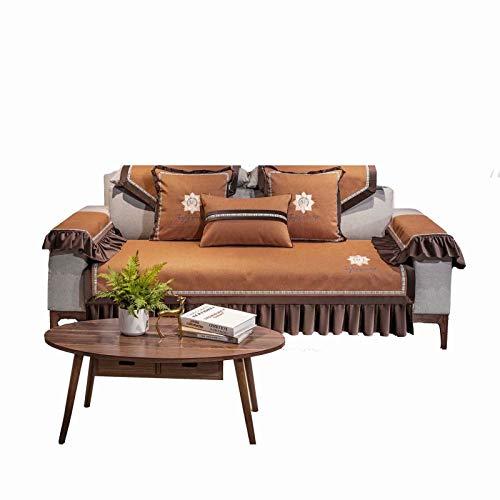 FRTU Fundas de sofá gruesas de chenilla de 3 plazas, antideslizantes, para proteger muebles de felpa, fundas de sofá (91 x 180 cm), se venden por pieza/no todos los juegos