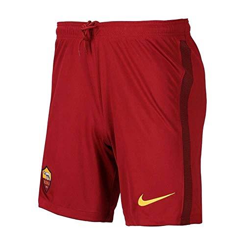 Nike 2020-2021 AS Roma Home Shorts de fútbol (niños), XLB 29-30' Waist (72.5/75.5cm), Rojo